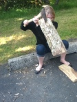 Yeah, I'm the fool wearing Steve Madden flats while splitting wood. I didn't lose any toes.